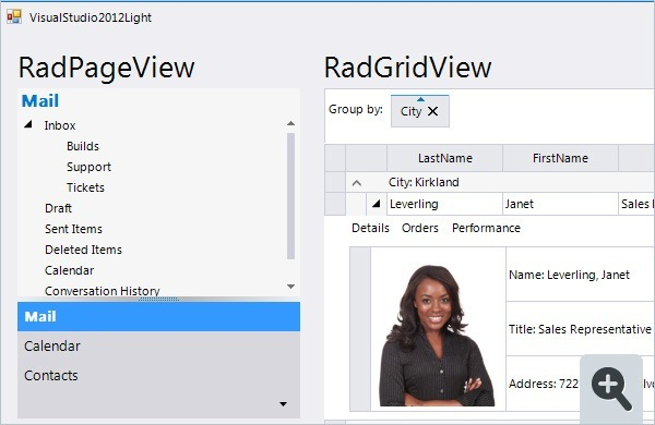 Visual Studio 2012 Light Theme for Telerik RadControls for WinForms
