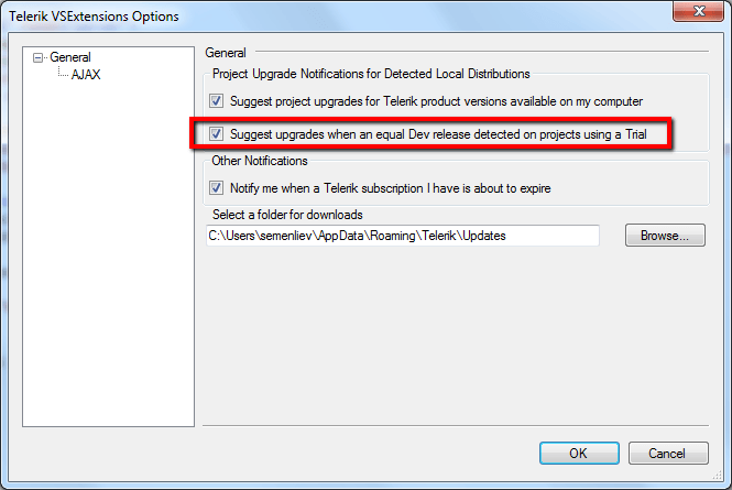 Telerik Extensions for Visual Studio