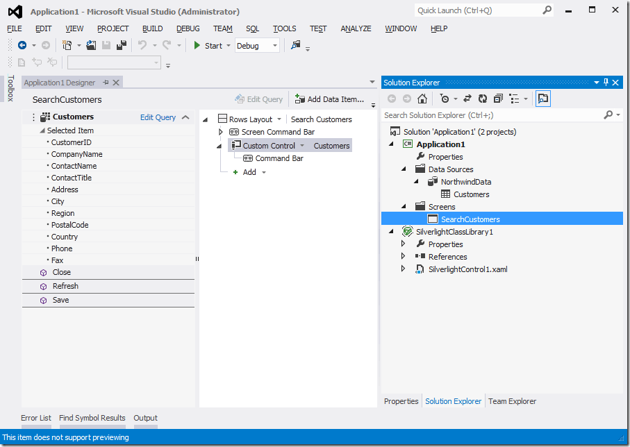 Consuming LightSwitch OData services with Microsoft Visual S