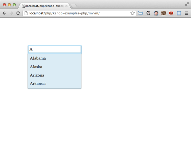 Using The AutoComplete With PHP