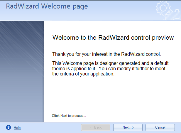 RadWizard for Windows Forms