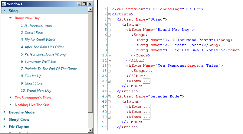 TreeView XML Data binding