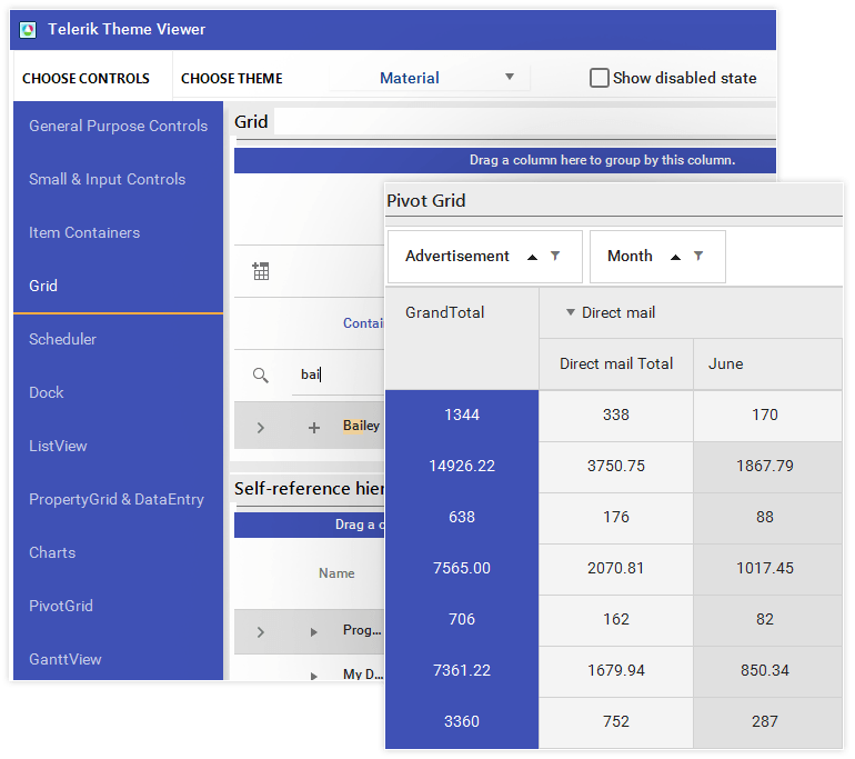 Telerik UI for WinForms Material Design Theme Large image