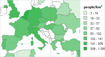 Telerik Reporting Choropleth Map