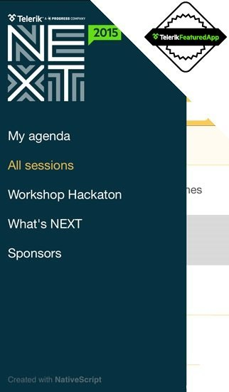 The TelerikNEXT Conference App – Built with NativeScript