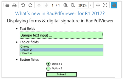 Telerik UI for Silverlight RadPDFViewer forms