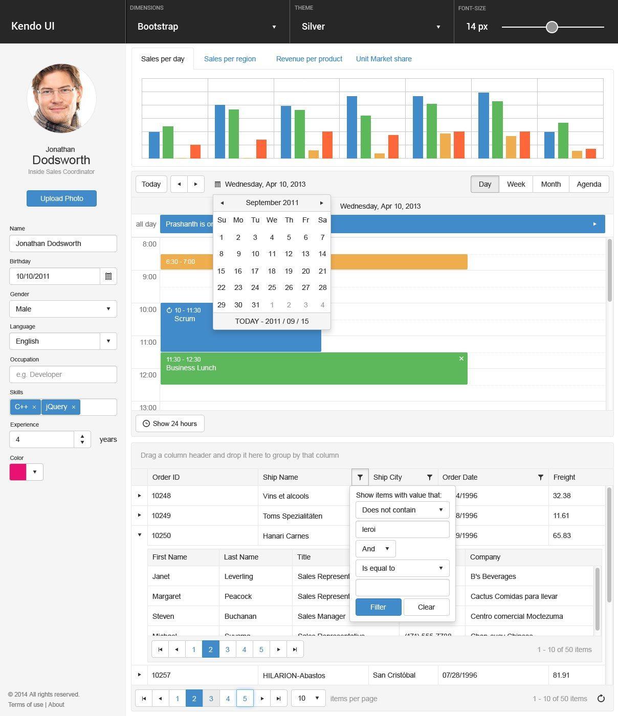Telerik - .NET, jQuery, Angular UI Developer Tools and Reporting