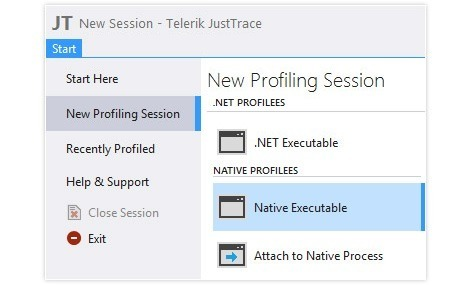 Native Profiling in JustTrace