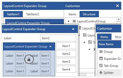 Telerik UI for WPF LayoutControl Component image