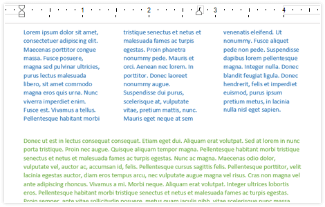 Telerik UI for WPF RichTextBox Section Columns image