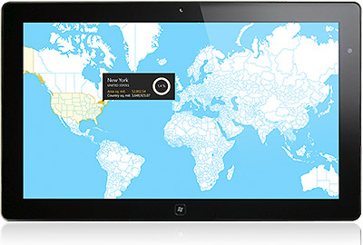 Map control for windows 8 xaml telerik radcontrols for for Telerik window
