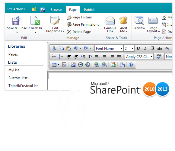 SharePoint Integration and Web Parts