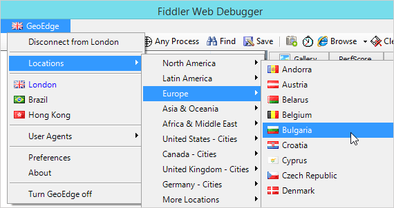 Fiddler and Geoedge
