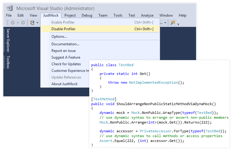 Just Mock Support for Visual Studio 2017