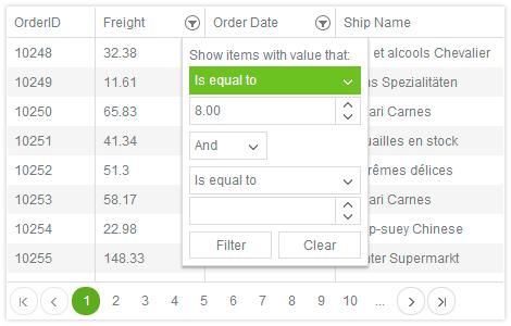 grid kendo ui widget powered by jquery javascript html5 telerik
