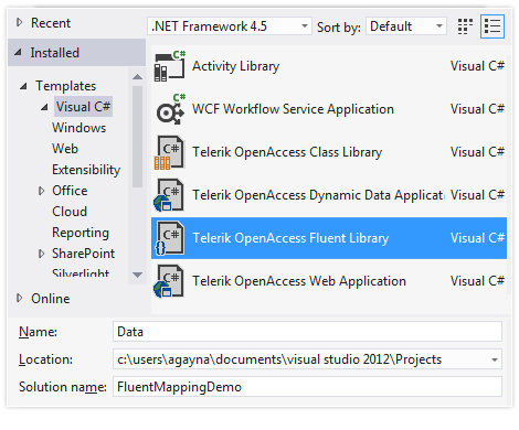 Visual Studio Project Templates
