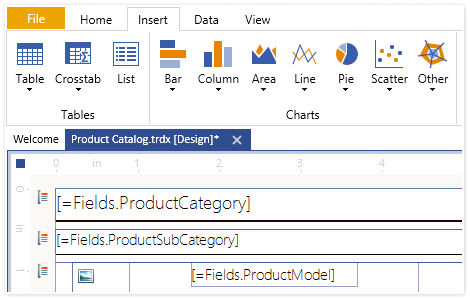 Telerik Report Designer