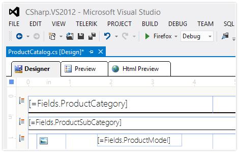 Visual Studio  NET and standalone end-user report designer