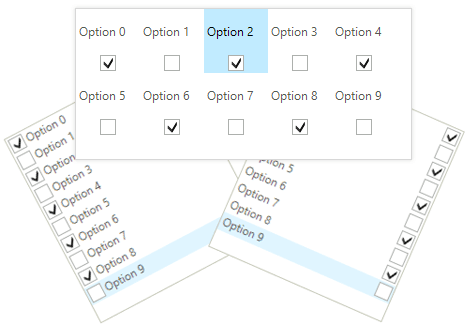UI for WinForms CheckedListBox Alignment