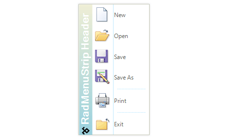 UI for WinForms ContextMenu Header Customization