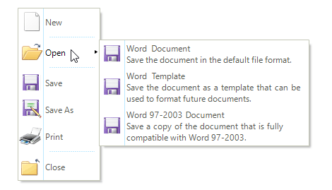 UI for WinForms ContextMenu Multi line text