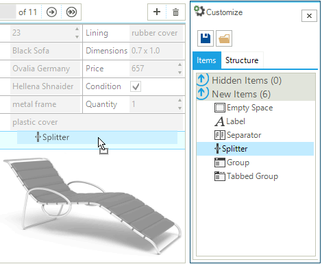 UI for WinForms DataLayout Customize
