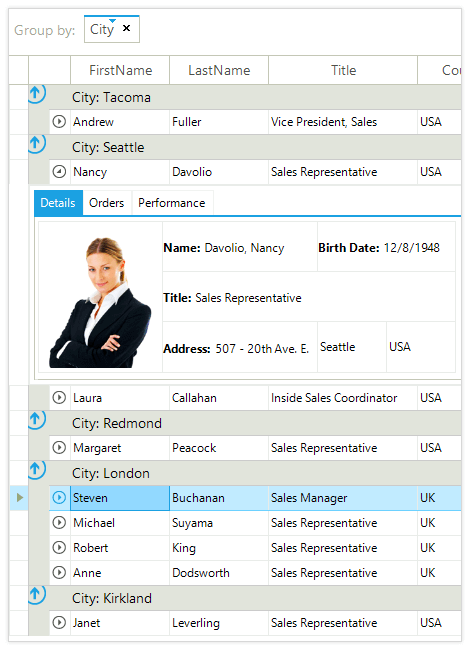 UI for WinForms GridView Overview