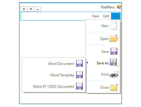 UI for WinForms Menu RTL