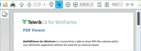 UI for WinForms PDF Viewer Browsing