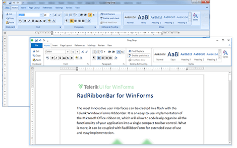 UI for WinForms RibbonBar Overview