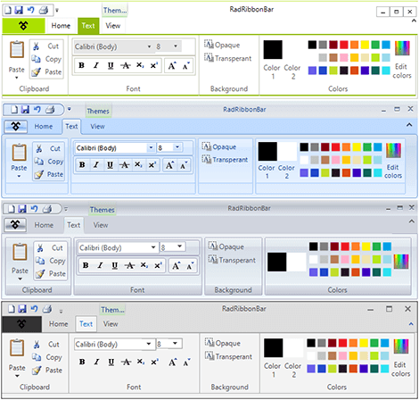 UI for WinForms TPF Themes