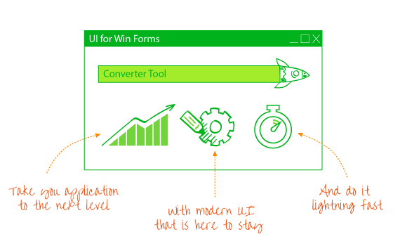 Telerik UI for WinForms Converter Tool Main image