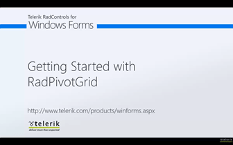 Getting Started with RadPivotGrid for WinForms