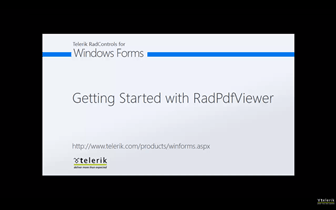 Getting Started with the WinForms RadPdfViewer