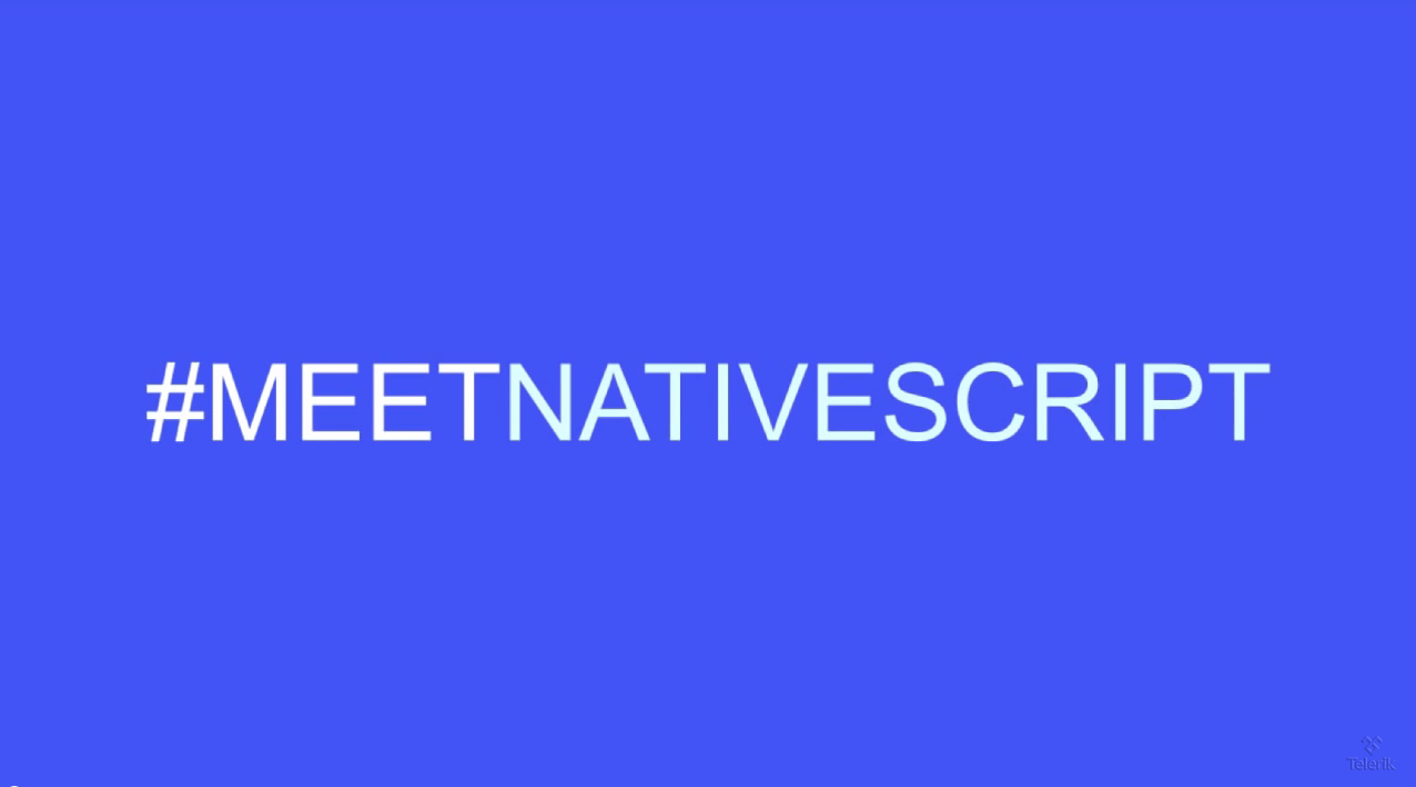 meet nativescript webinar